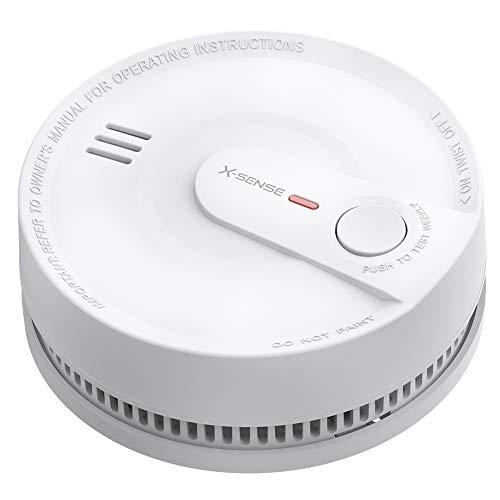 X-Sense Rilevatore di fumo con batteria da 10 anni, allarme antincendio intelligente, protezione 5 volte contro falsi allarmi, sensore fotoelettrico all'avanguardia, certificato TÜV, SD2K