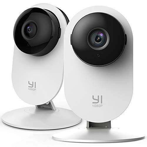 YI Home Camera 1080p Kit da 2 ,IP Camera WiFi,Telecamera Interno di Sorveglianza con Rilevamento di Movimento,Notifiche Push,Audio Bidirezionale,Visione Notturna,Smart Videocamera per telefono,laptop