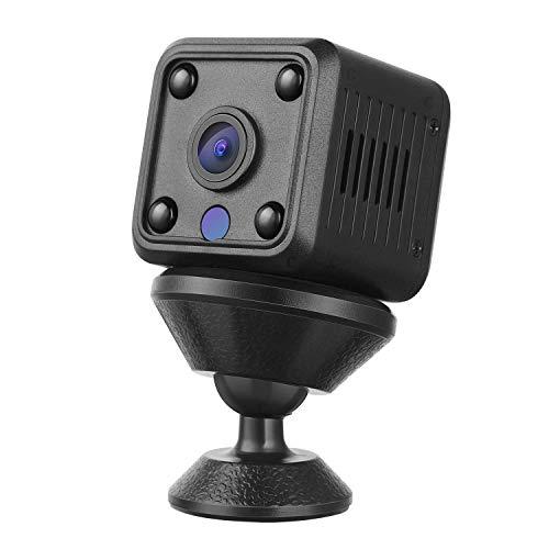 YOHOOLYO Mini Telecamera Spia Nascosta Wireless Cam, 1080P HD Portatile Microcam Sorveglianza con Visione Notturna, Rilevamento del Movimen, Registrazione in Loop per Esterno/Interno, Servizio Cloud