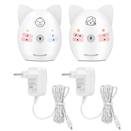 YOUTHINK Baby Monitor Digtal Audio Portatile Wireless Musica incorporata Baby Monitor Intercom bidirezionale Monitor promemoria Neonato con Luce Notturna(UE)