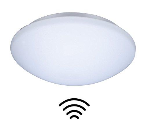 ZEYUN lampada da parete e da soffitto a LED da lampada da sala in vetro con rilevatore di movimento, attacco E27, illuminazione scale da 28 x 9,5 cm (con rilevatore di movimento HF)