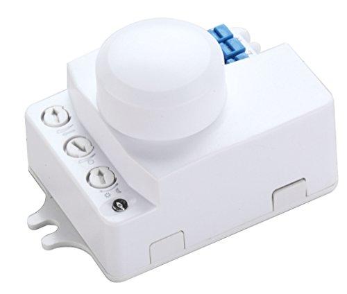 ZEYUN Sensore radar a microonde Interruttore della luce , Rilevatore di movimento, angolo di rilevamento a 360 ° Rilevatore di movimento HF Interruttore automatico di controllo della luce