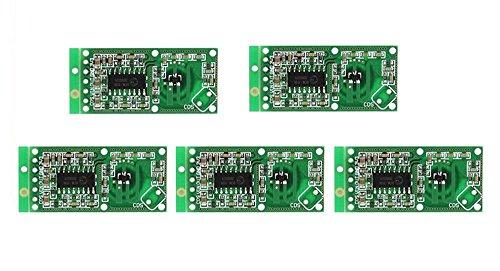 ARCELI 5PCS Sensore radar a microonde RCWL-0516 Modulo interruttore Induzione umana