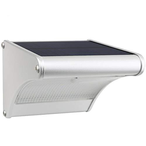 Licwshi Luci solari 450lm esterna impermeabile lega di alluminio Housing, 24 LED radar sensore di movimento per Step, Giardino, Cortile, Deck (1 pezzo)