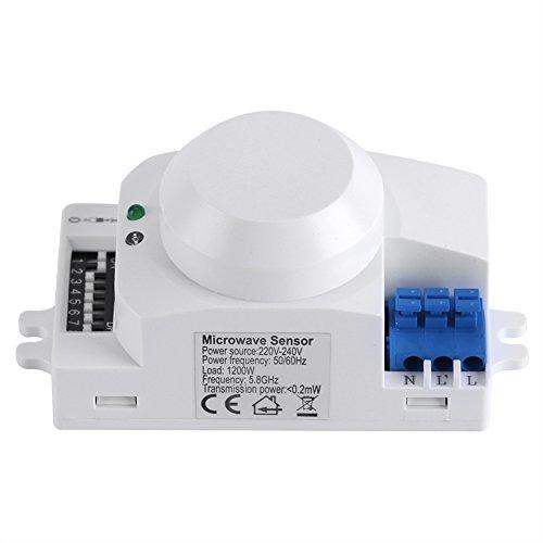 Sensore di movimento ad infrarossi passivo a 360°,Interruttore della luce Sensore a microonde radar(220V-240V SK-600)