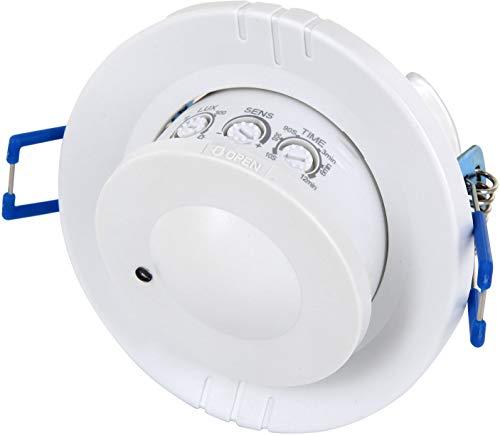 Sensorshop24 - Sensore di movimento da incasso HF Radar, orientabile a 360°, adatto a LED, 1W-1200W 230V