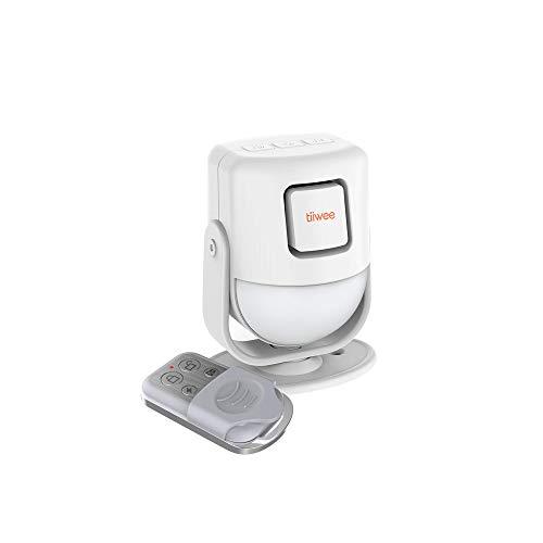 tiiwee X4 Rilevatore di Movimento e Sirena d'Allarme - Sirena da 125 dB - Sistema d'Allarme Antifurto con Telecomando - Espandibile - per Uso in Casa, Garage, Giardino, Capannone
