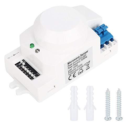 Wifehelper - Sensore di microonde SK-600, sensore di radar a microonde a 360°, corpo del rilevatore di movimento, interruttore di luce, induttanza automatica 220-240 V